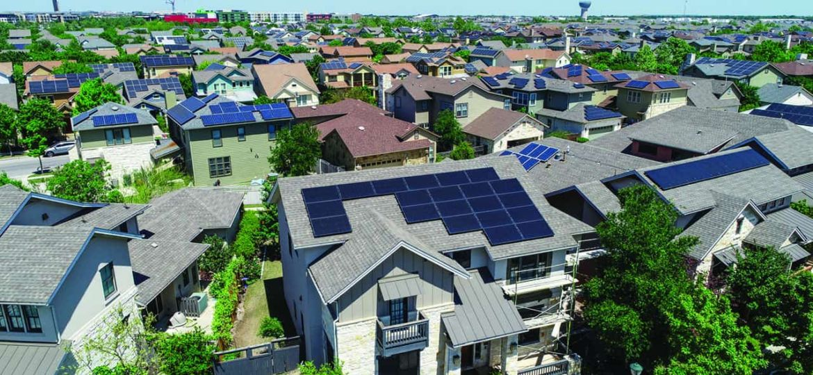 Mueller Suburb Solar Panel Rooftops and Modern Austin Living